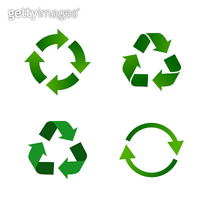 Set Recycle Recycling Icon Vector Logo Template Illustration Design EPS 10.