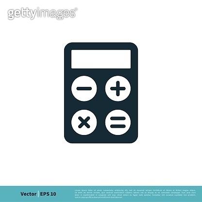 Calculator Stationery Icon Vector Logo Template Illustration Design. Vector EPS 10.