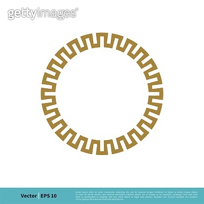 Circle Border Ornamental Icon Vector Logo Template Illustration Design. Vector EPS 10.