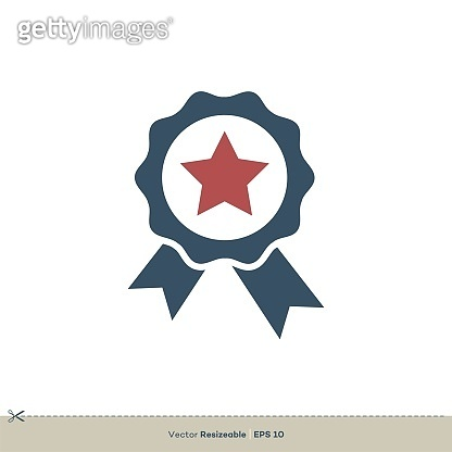 Award Ribbon Vector Logo Template Illustration Design. Vector EPS 10.