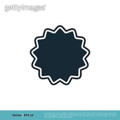 Rosette Badge Icon Vector Logo Template Illustration Design. Vector EPS 10.