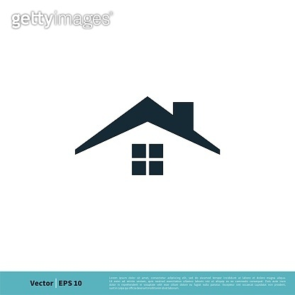 Real Estate Roof of Home Icon Vector Logo Template Illustration Design. Vector EPS 10.