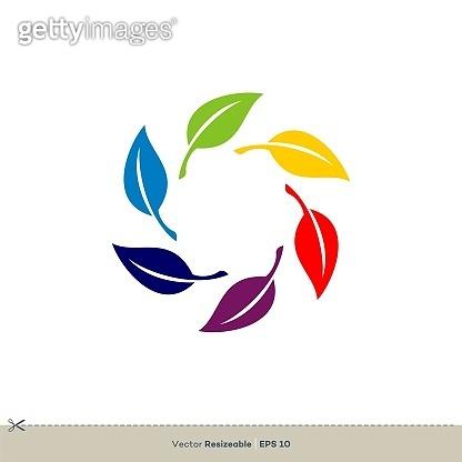 Green Leaves Vector Logo Template Illustration Design. Vector EPS 10.