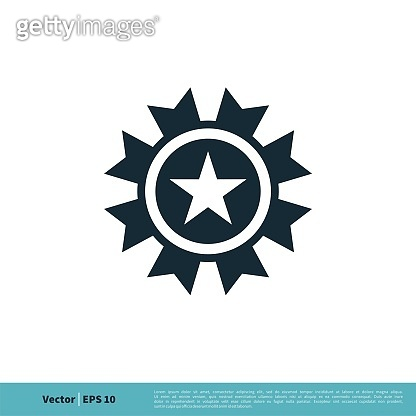 Ornamental Star Emblem icon Vector Logo Template Illustration Design. Vector EPS 10.