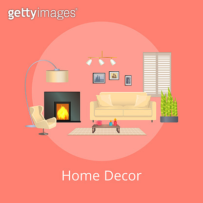Home Decor, Comfortable Flat, Vector Illustration