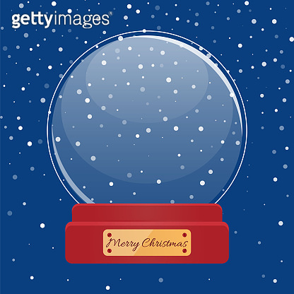 Happy New Year Snowball, Christmas Ball Vector