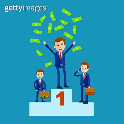 Managers on Top Places with Money Rain Flat Theme