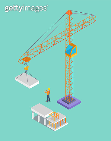 Building Banner, Colorful Vector Illustration