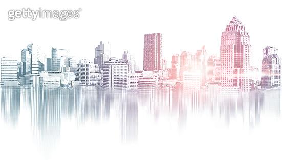 Abstract city building skyline metropolitan area.