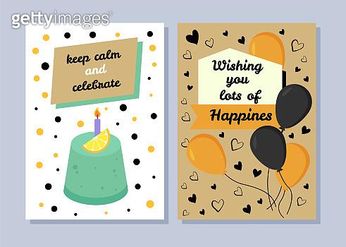 Keep Calm and Celebrate, Congratulation Postcards