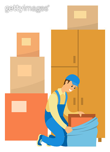 Furniture Store and Service, Worker with Products