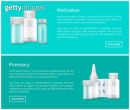 Medication and Pharmacy Web Posters Blank Capsules