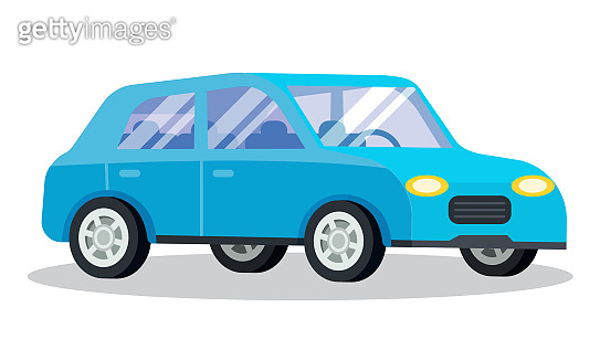 Estate Car Isolated on White Background, Vehicle