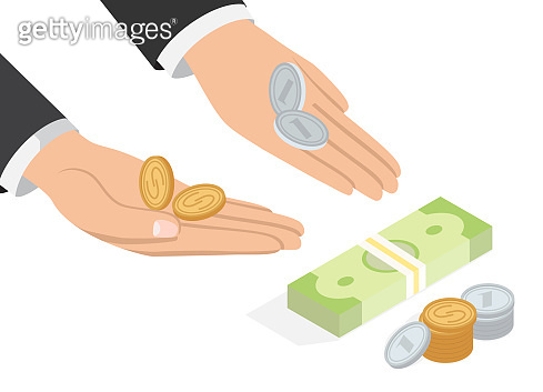 Offer of Money Isometric Projection Concept