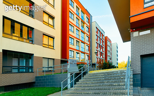 Staircase at Apartment modern house and home residential building outdoor reflex