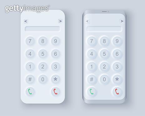 Neumorph UI kit on device screen