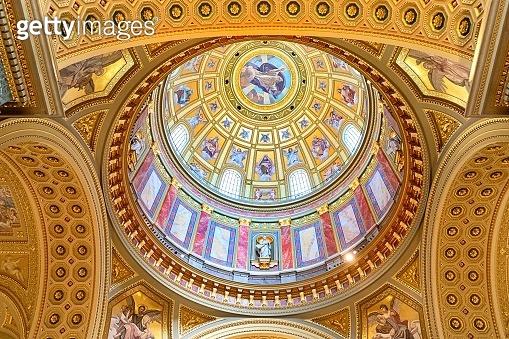 View inside the Basilica of Sant Istvan(Stephen)