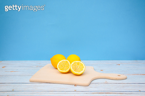 Slices of citrus fruits on the table