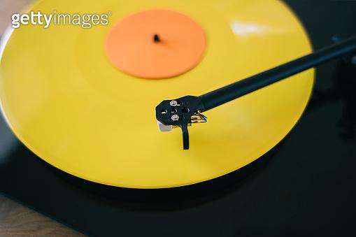 Turntable play LP vinyl record