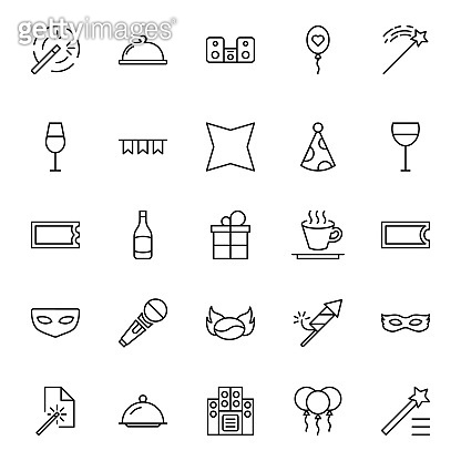 Holidays line icon set.
