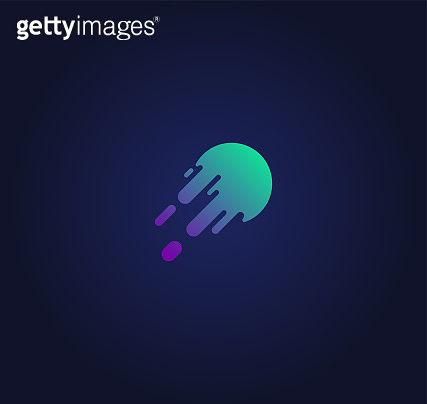 Stylish colorful speed ball icon, vector illustration