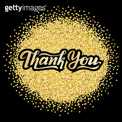 lettering text Thank You,