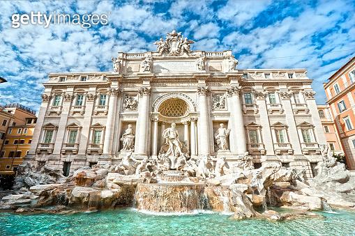 The Trevi Fountain, Rome, Italy.