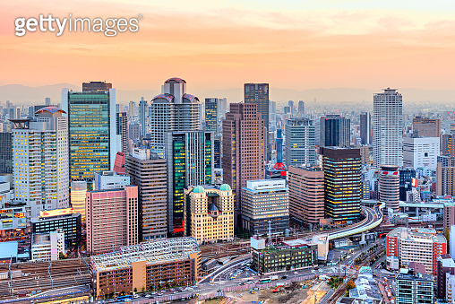 Osaka Aerial view, Japan