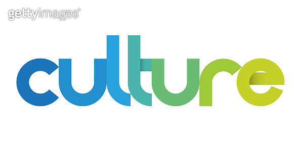 CULTURE colorful typography banner