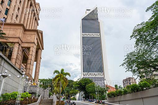 The beautiful Maybank building in Kuala Lumpur. Urban architecture