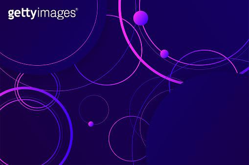 Hipster landing page 3d dark violet neon colors