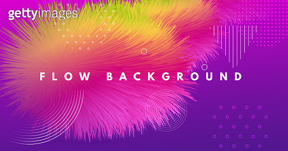 Vibrant Design. Neon Dynamic Motion. Abstract