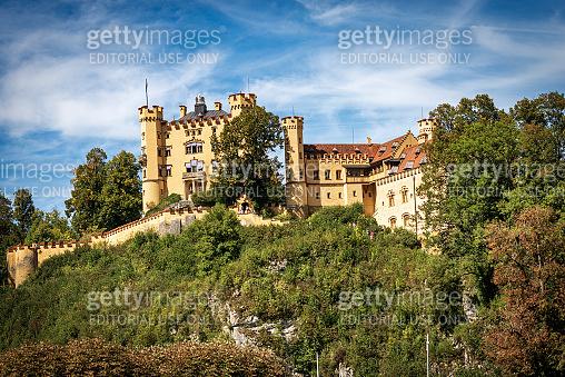 Hohenschwangau Castle in Schwangau village - Bavaria Germany