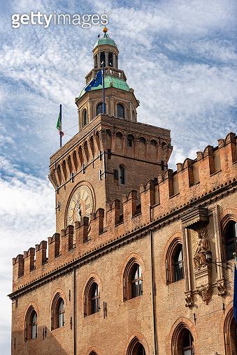 Torre degli Accursi - Town hall in Bologna Italy