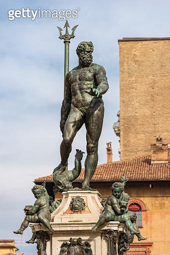 Bronze Statue of Neptune the Roman God - Bologna Italy