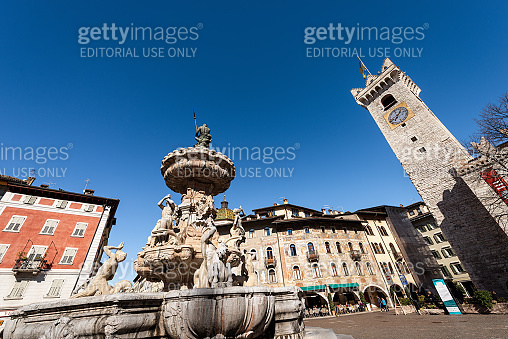 Piazza del Duomo - Cathedral square Trento downtown Italy