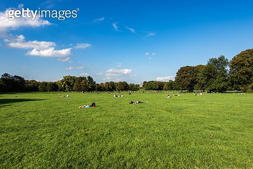 Munich Germany - English Garden in a summer day