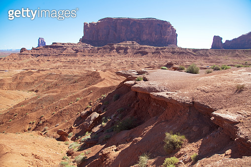 Landscape in the  famous Monument Valley