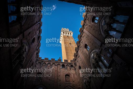 Torre del Mangia - Piazza del Campo Siena Tuscany Italy