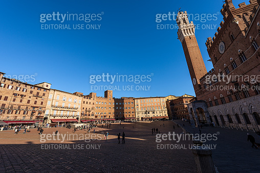 Piazza del Campo - Main town square of Siena Tuscany Italy