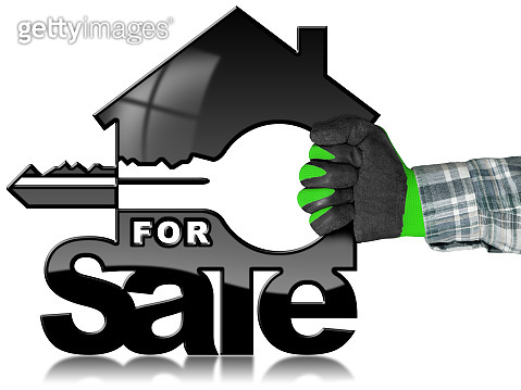 House Model with Key - For Sale concept