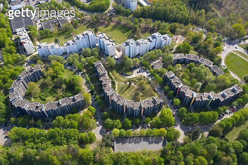 Apartment Buildings, Aerial View