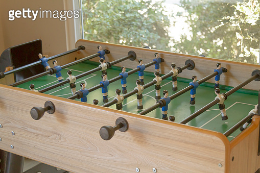 Foosball at modern office, close-up view