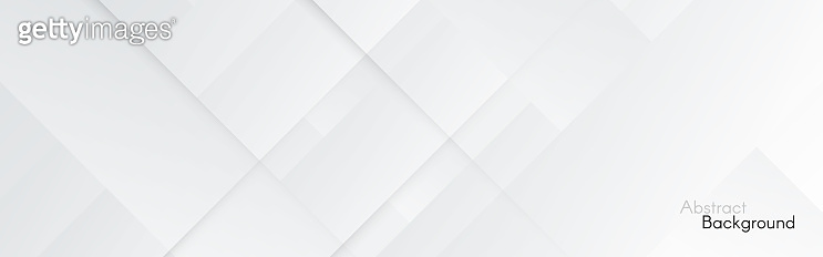 Gray background. Abstract light lines. Wide web banner. White technology backdrop. Smooth geometric website template. Clean business design. Grey texture. Vector illustration