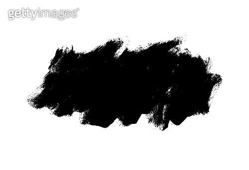 Vector black paint, ink brush stroke, rectangular shape. Dirty grunge design element, rectangle or background for text.