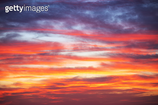 Cloudscape and dramatic sky, sunset shot