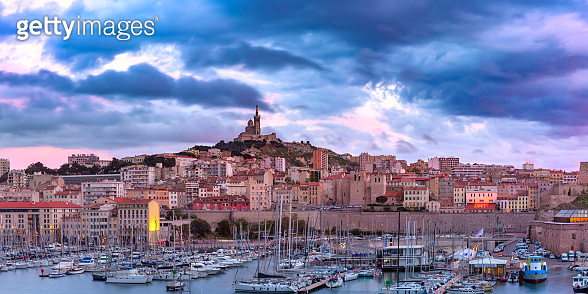 Old Port and Notre Dame, Marseille, France