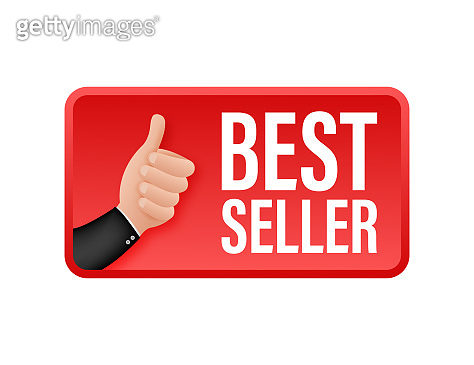 Best seller, thumbs up. Sale tag. Sale banner badge. Vector stock illustration