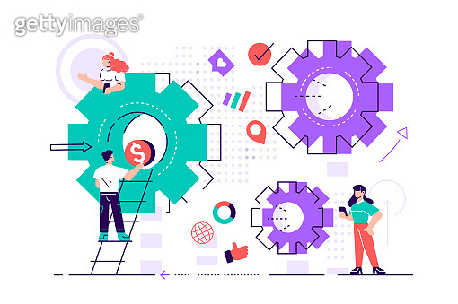 Business concept of vector illustration