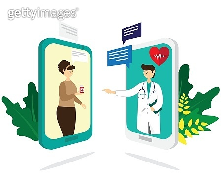Online healthcare. Healthcare and medicine concept. Banner, graphic, vector for web page, business, advertisement.